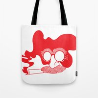 marx Tote Bags featuring Groucho Marx by Stephanie Keir