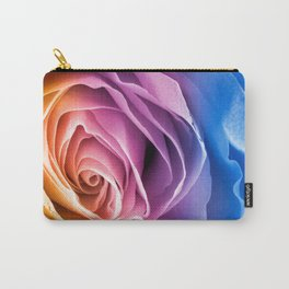 Rainbow Rose Macro Carry-All Pouch
