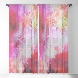 fire storm Sheer Curtain