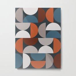 Mid Century Modern Geometric 24 Metal Print