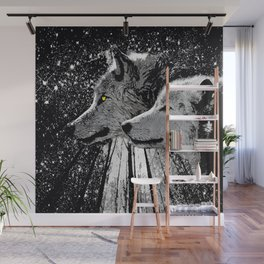 WOLF OF THE NIGHT FOREST Wall Mural