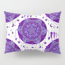 Monochromatic mandala dream catchers Pillow Sham