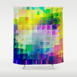 Exploded Spectrum Shower Curtain