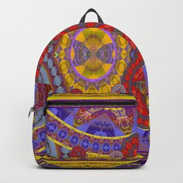 Mystical Magic Circus Abstract Print Backpack