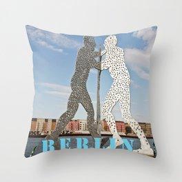 MOLECULMAN in BERLIN Throw Pillow