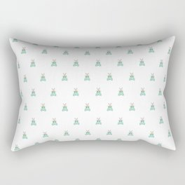 Blue Moth Rectangular Pillow