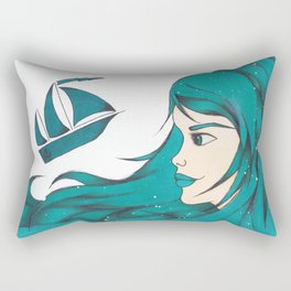 Poseidon Goddess of the Sea Rectangular Pillow