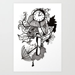 Lost track of time... Art Print