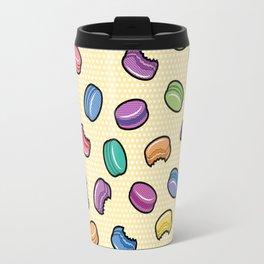 Pop Art Macarons: Yellow Travel Mug
