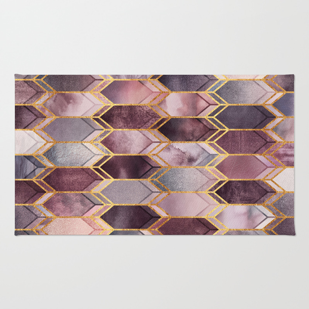 Dreamy Stained Glass 1 Rug by Elisabethfredriksson RUG7285750