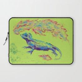 Fire-Breathing Lizard Friend Laptop Sleeve