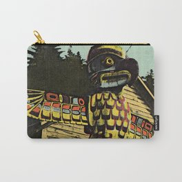 An Alaskan Totem Pole Carry-All Pouch