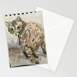 Black Footed Cat - watercolor Stationery Cards