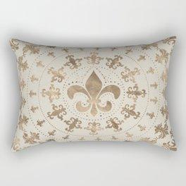 Fleur-de-lis ornament Pastel Gold Rectangular Pillow