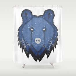 Into The Fierce Winter Shower Curtain