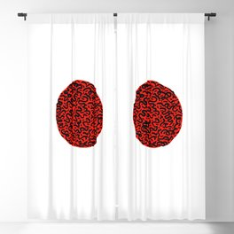 RED CIRCLE Blackout Curtain