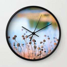 Illinois Fall Seeds Wall Clock