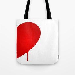 Half Heart Man Tote Bag