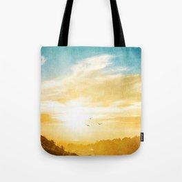 Breaking over the horizon Tote Bag