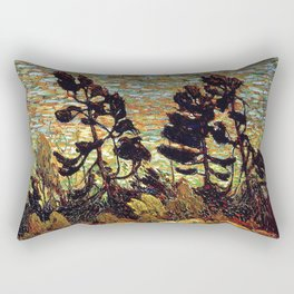 Tom Thomson - Summer Shore, Georgian Bay  - Canada, Canadian Oil Painting - Group of Seven Rectangular Pillow