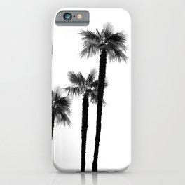 Minimal Black & White Palms #1 #tropical #decor #art #society6 iPhone Case