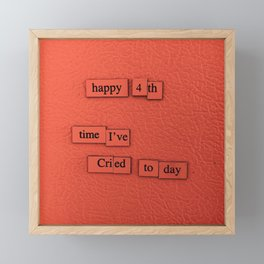 Happy 4th Framed Mini Art Print