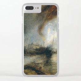 "Tempête de neige en mer ""Snow Storm - Steam-Boat off a Harbour's Mouth"", William Turner, 1842 Clear iPhone Case"