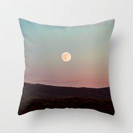 Moon Over Grand Teton Throw Pillow