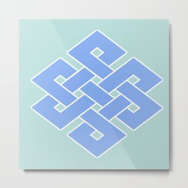 Eternal (soft blue & green) Metal Print