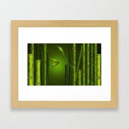 Bamboo Framed Art Print