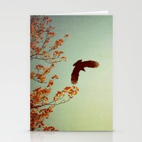 wings Stationery Cards featuring Wings by Alicia Bock