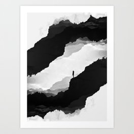 White Isolation Art Print