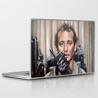 ghostbusters Laptop & iPad Skins featuring Bill Murray / Ghostbusters / Peter Venkman by Heather Buchanan