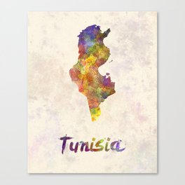 Tunisia in watercolor Canvas Print