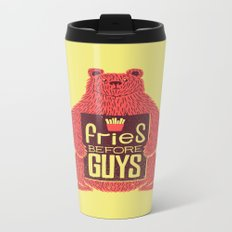 Fries Before Guys Metal Travel Mug