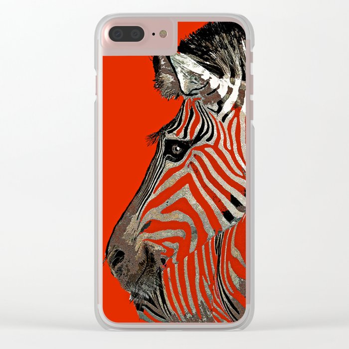 Zebra  Clear iPhone Case