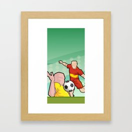 Soccer game Framed Art Print