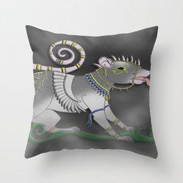 The Sacred of Rat Throw Pillow