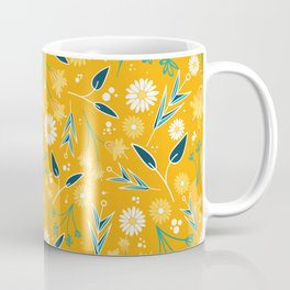 Flowers & Leaves Coffee Mug