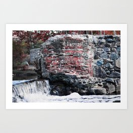 Mission Dam in the Fall Art Print