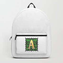 Monogram Alphabet Letter A Backpack