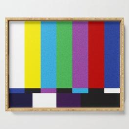 tv color bar Serving Tray