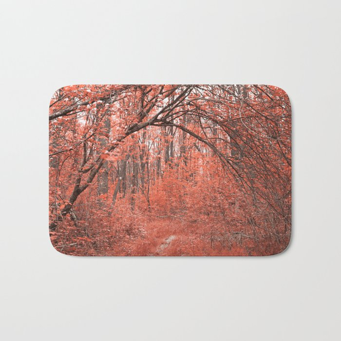 Forest Arch Trail - Salmon Pink Bath Mat