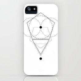 Rhombus Moon White Geometry iPhone Case