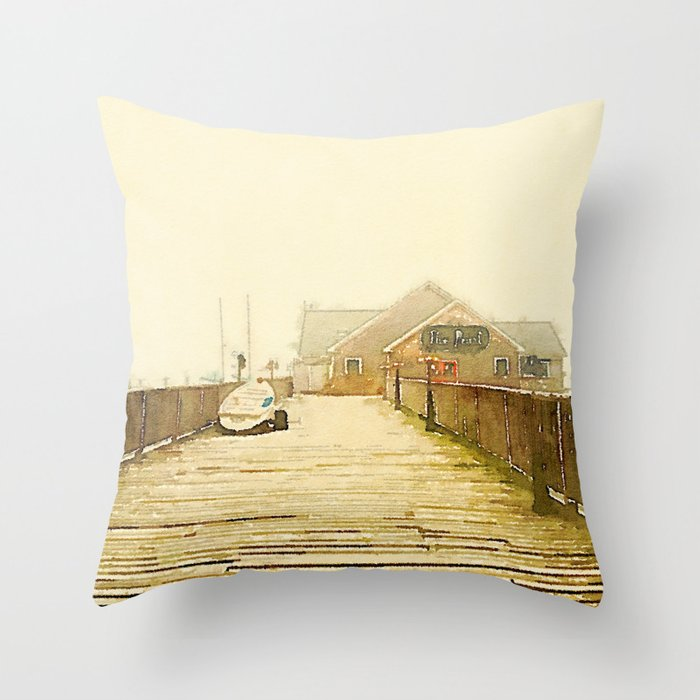 The Pearl; Rockland, Maine Throw Pillow
