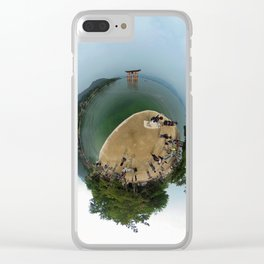 Miyajima island and torii on the water Japan in 360 Clear iPhone Case