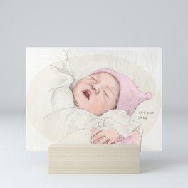 First Portrait of Sara Mini Art Print