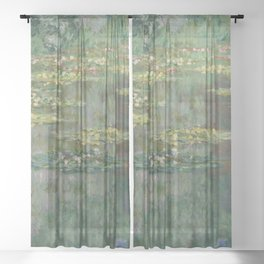 Monet - Water Lily Pond (Le Bassin Des Nympheas) Sheer Curtain