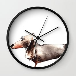 Sausage Dog Wall Clock