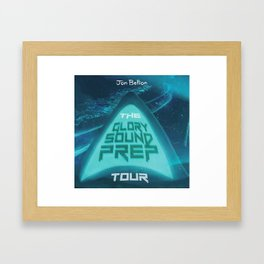 jon bellion glory sound prep tour 2019 2020 logo simukasama Framed Art Print